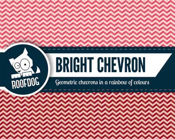 Bright rainbow chevron pattern digital paper