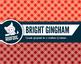 Bright rainbow gingham digital paper
