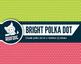 Bright rainbow polka dot pattern digital paper