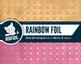 Bright rainbow silver foil honeycomb pattern digital paper