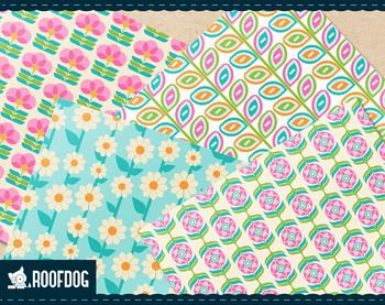 Bright spring floral digital paper