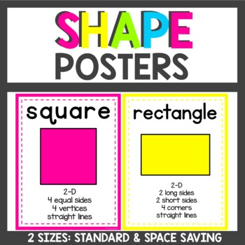 Bright themed Shape Posters in 2 sizes