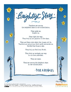 Brightest Stars Poster by Peter H. Reynolds