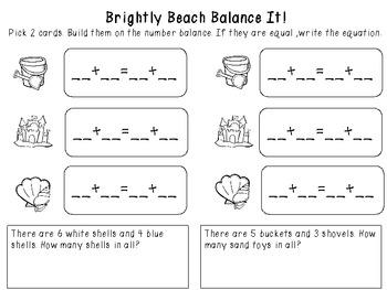 Brightly Beach Balance It! Math Center