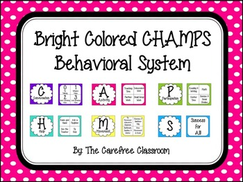 CHAMPS Chart: Bright Colored