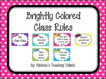 Class Rules: Brightly Colored