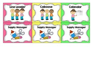 Brightly Colored Classroom Jobs