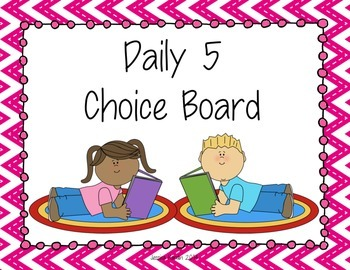 Brightly Colored Daily 5 Poster Freebie!