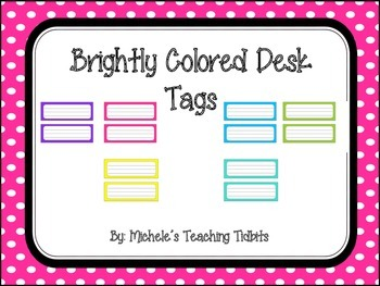 Desk Tags: Brightly Colored