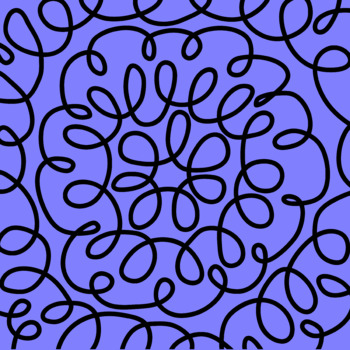 Brightly Colored Digital Papers - doodle drawings and circles - 300 dpi