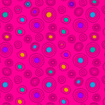 Brightly Colored Digital Papers - doodle drawings and circles - 300 dpi *Freebie