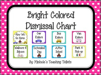 Dismissal Chart: Brightly Colored