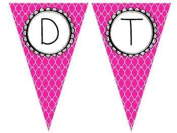Brightly Colored Flag Bunting Banner