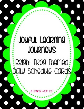 Bright Frog Themed Schedule Signs