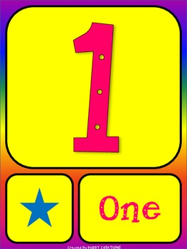 Brightly Colored Number Posters