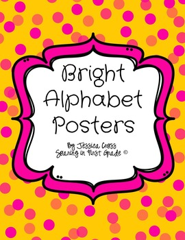 Brightly Colored Polka Dot Alphabet Posters