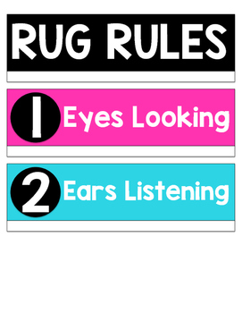 Brightly Colored Rug Rules