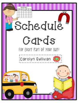 Brightly Colored Schedule Cards