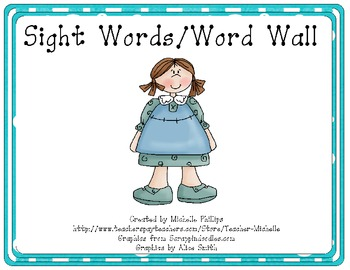 Brightly Colored Sight Words/Word Walls - Sample
