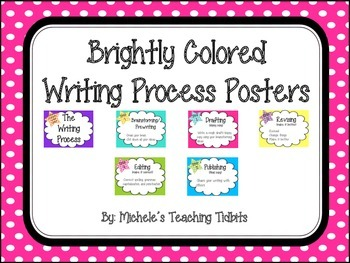 Brightly Colored Writing Process Posters