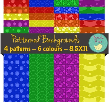 Brightly Patterned Backgrounds