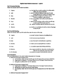 Brighton Beach Memoirs Multiple Choice Assessment