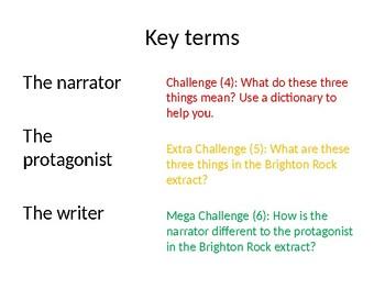 Brighton Rock - English Language AQA Paper 1 Practice
