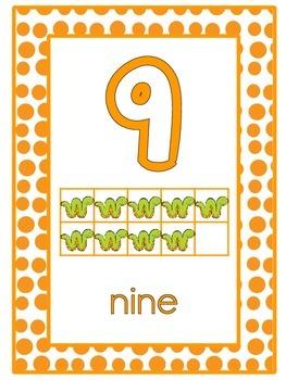 Brights 0 to 30 Ten Frame Number Line Display