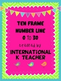 Brights 0 to 30 Ten Frame Number Line Display