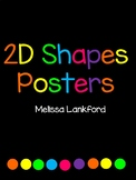 Brights 2D Shapes Posters