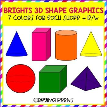 Brights 3-D Shape Graphics
