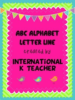 Brights Alphabet ABC Letter Line Colorful Display