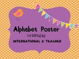 Brights Alphabet ABC Letter Chart Poster