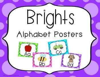 Brights Alphabet Posters (Horizontal)