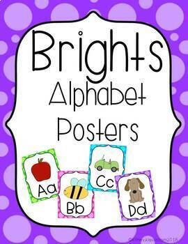 Brights Alphabet Posters (Vertical)