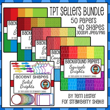 Brights Background Papers BUNDLE  SAVE 50%
