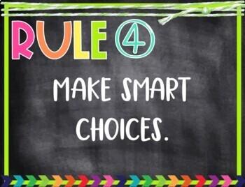 Brights & Blackboard Class Rules - EDITABLE!