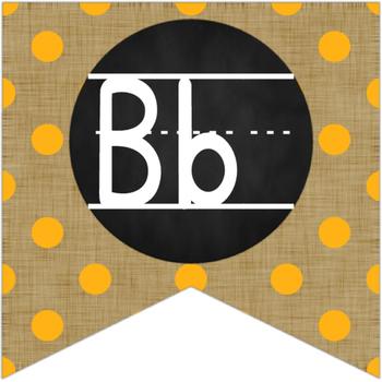 Brights & Burlap Alphabet Bunting