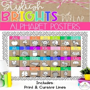 Brights & Burlap Alphabet Line
