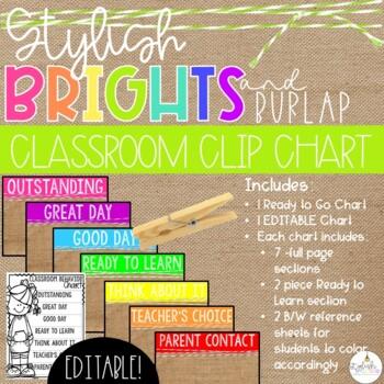 Brights & Burlap Clip Chart