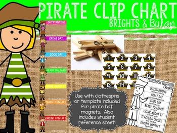 Brights & Burlap Pirate Clip Chart