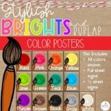 Brights & Burlap Color Posters