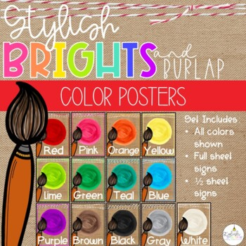 Brights & Burlap Color Posters