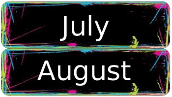Brights Calendar Months