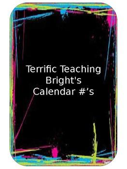 Brights Calendar Numbers