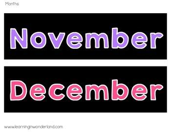 Brights Calendar Set Freebie