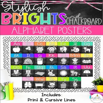 Brights & Chalkboard Alphabet Line