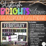 Brights & Chalkboard Classroom Calendar Set
