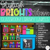 Brights & Chalkboard Classroom Library Labels - EDITABLE!