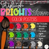Brights & Chalkboard Color Posters